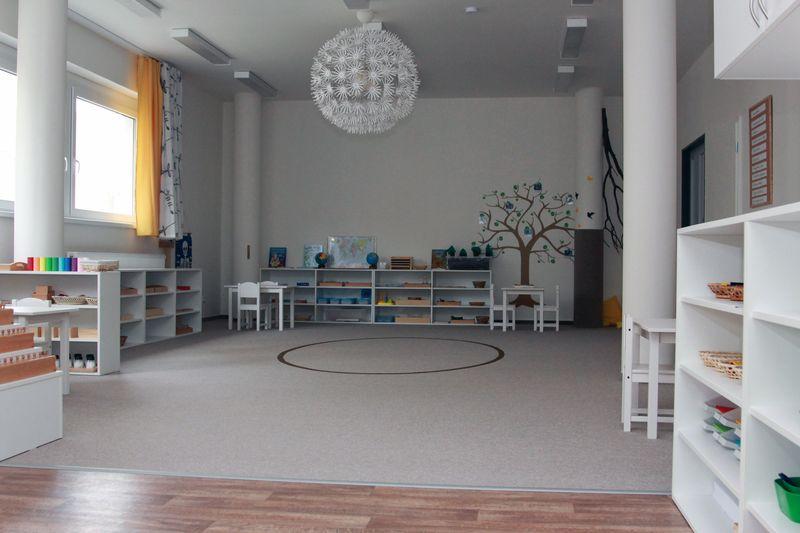 Pracovna - prostory školky s elipsou